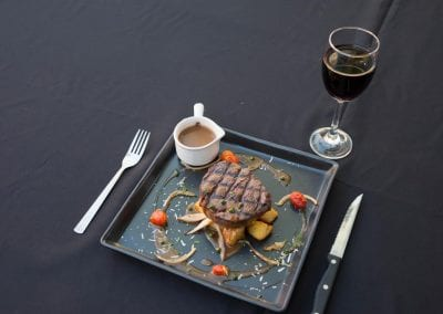 New Zealand Filet Mignon, Tenderloin served with creamy Dijon