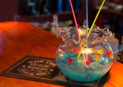 Special CHA CHA Bucket, (Sangsom, Tequila, soda, blue Syrup, crushed Ice)